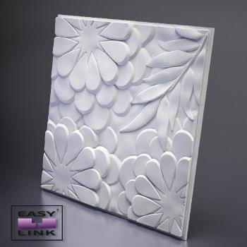 Гипсовая 3Д панель Flora