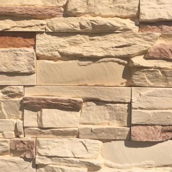 Искусственный декоративный камень Известняковая груда бежевая 042