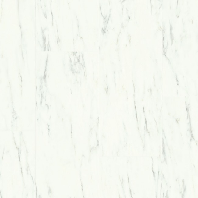 Виниловая плитка Quick-Step Ambient Glue Plus Мрамор каррарский белый