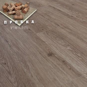 ПВХ плитка Vinilam Гибрид + пробка 6,5 мм 04-018 Дуб брюссель