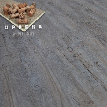 ПВХ плитка Vinilam Гибрид + пробка 6,5 мм 10-015 Дуб льеж