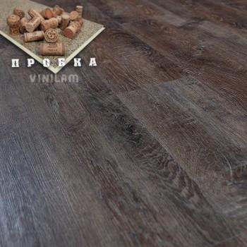 ПВХ плитка Vinilam Гибрид + пробка 6,5 мм 10-017 Дуб брюгге