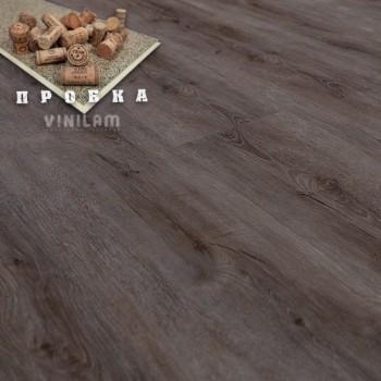 ПВХ плитка Vinilam Гибрид + пробка 6,5 мм 10-038 Дуб турне
