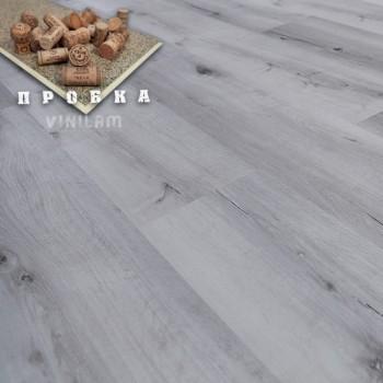 ПВХ плитка Vinilam Гибрид + пробка 6,5 мм 10-064 Дуб гент