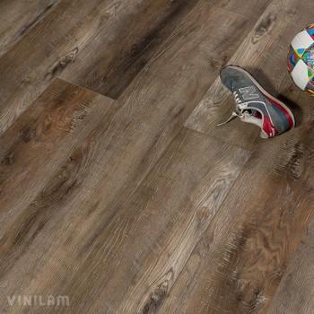 ПВХ плитка Vinilam XXL Гибрид + пробка 6,5 мм 10013 Дуб варем