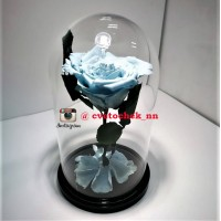 Голубая роза в колбе королевская