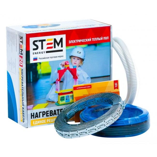 Теплый пол: Нагревательный кабель STEM Energy 1200/20